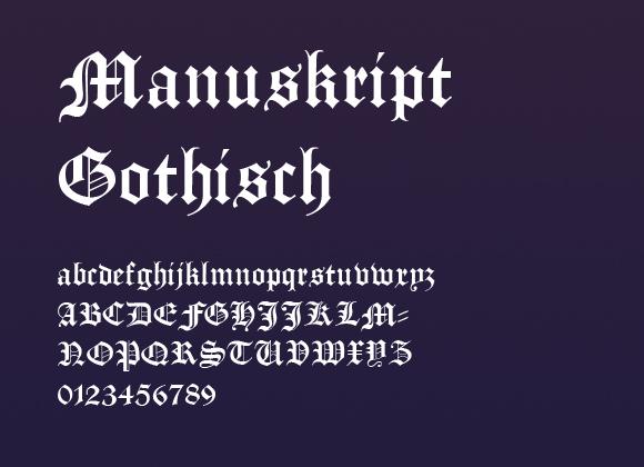 Manuskript-Gothisch