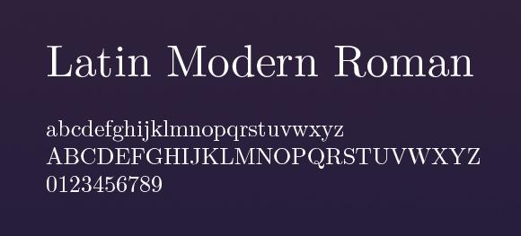 Latin-Modern-Roman